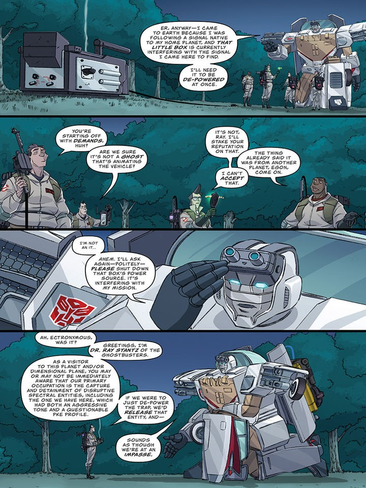 Transformers News: IDW Transformers Ghostbusters Number 2 Preview