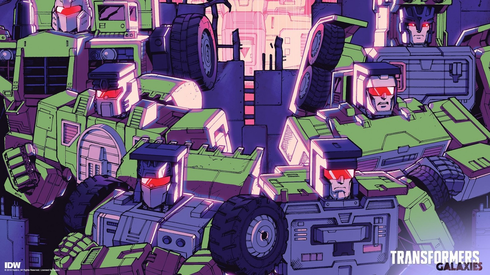 Transformers News: IDW Transformers Galaxies Constructicons Rising Exclusive Covers and Wallpapers