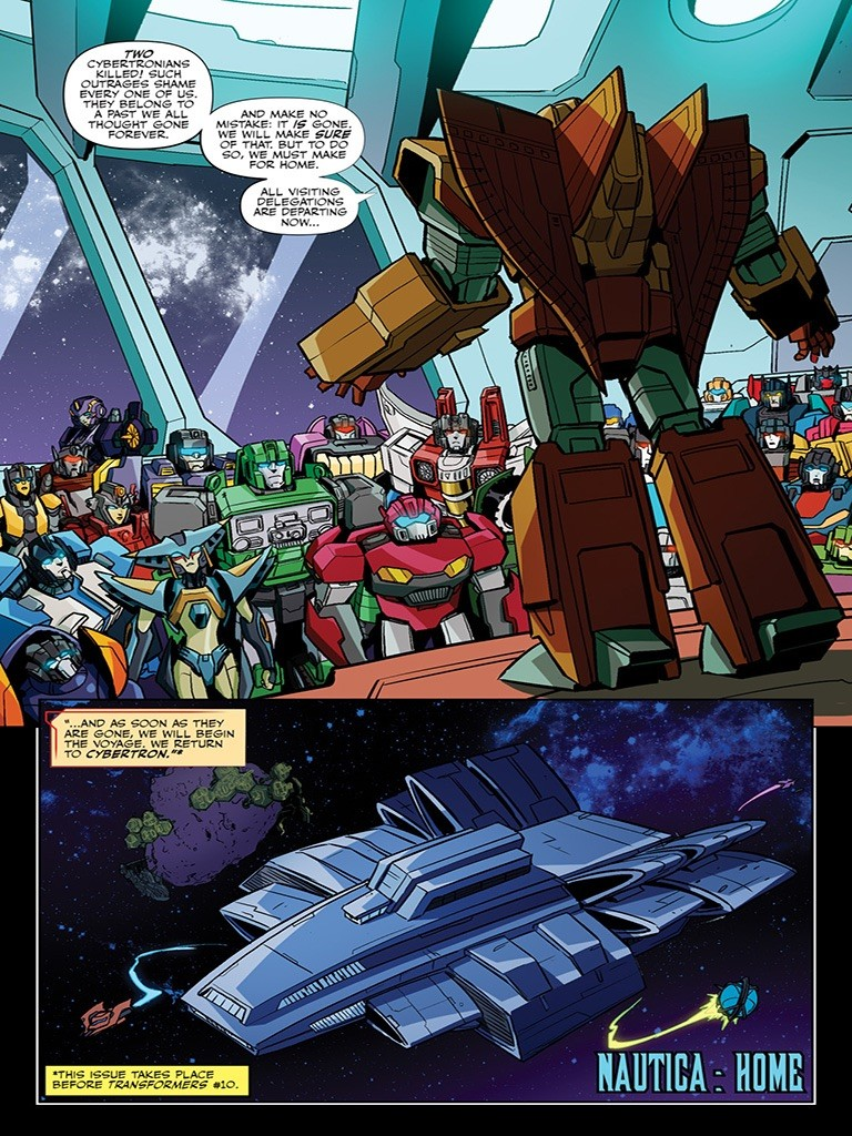 Transformers News: Apple Books Preview Three Page Preview for IDW Transformers Issue 12