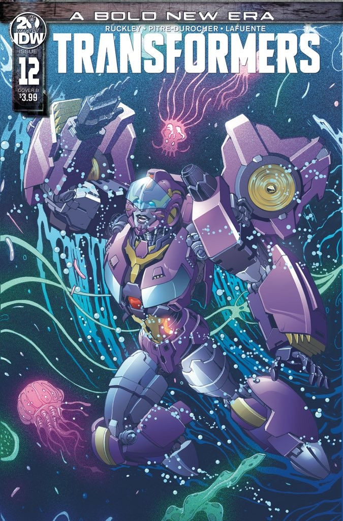 Transformers News: Andrew Griffith Cover for IDW Transformers #12 Revealed
