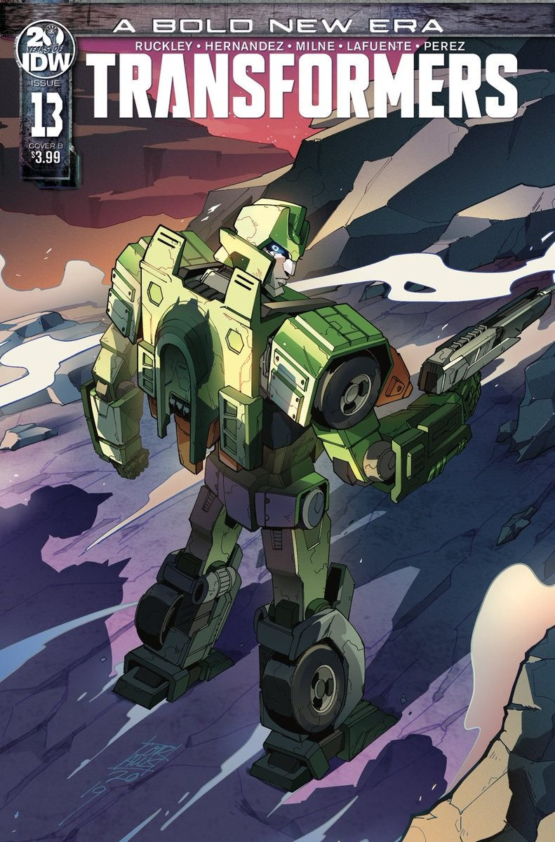 Transformers News: Time to Get Wrecked with Cover B to Issue #13 for IDW's Transformers Featuring Springer