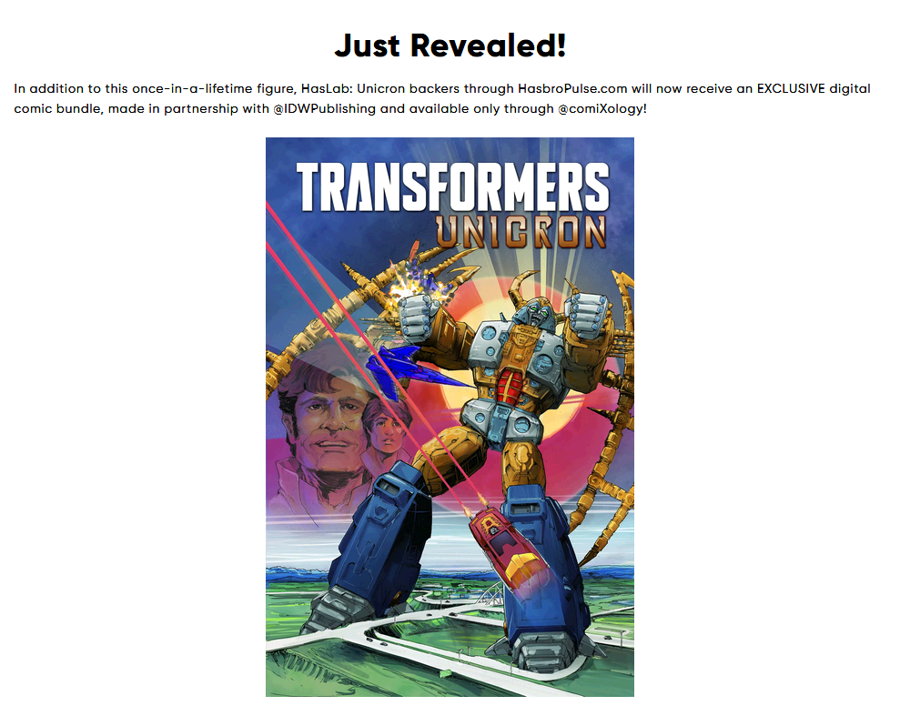 Transformers News: Unicron backers to receive digital copy of Transformers The Animated Movie comic with new cover