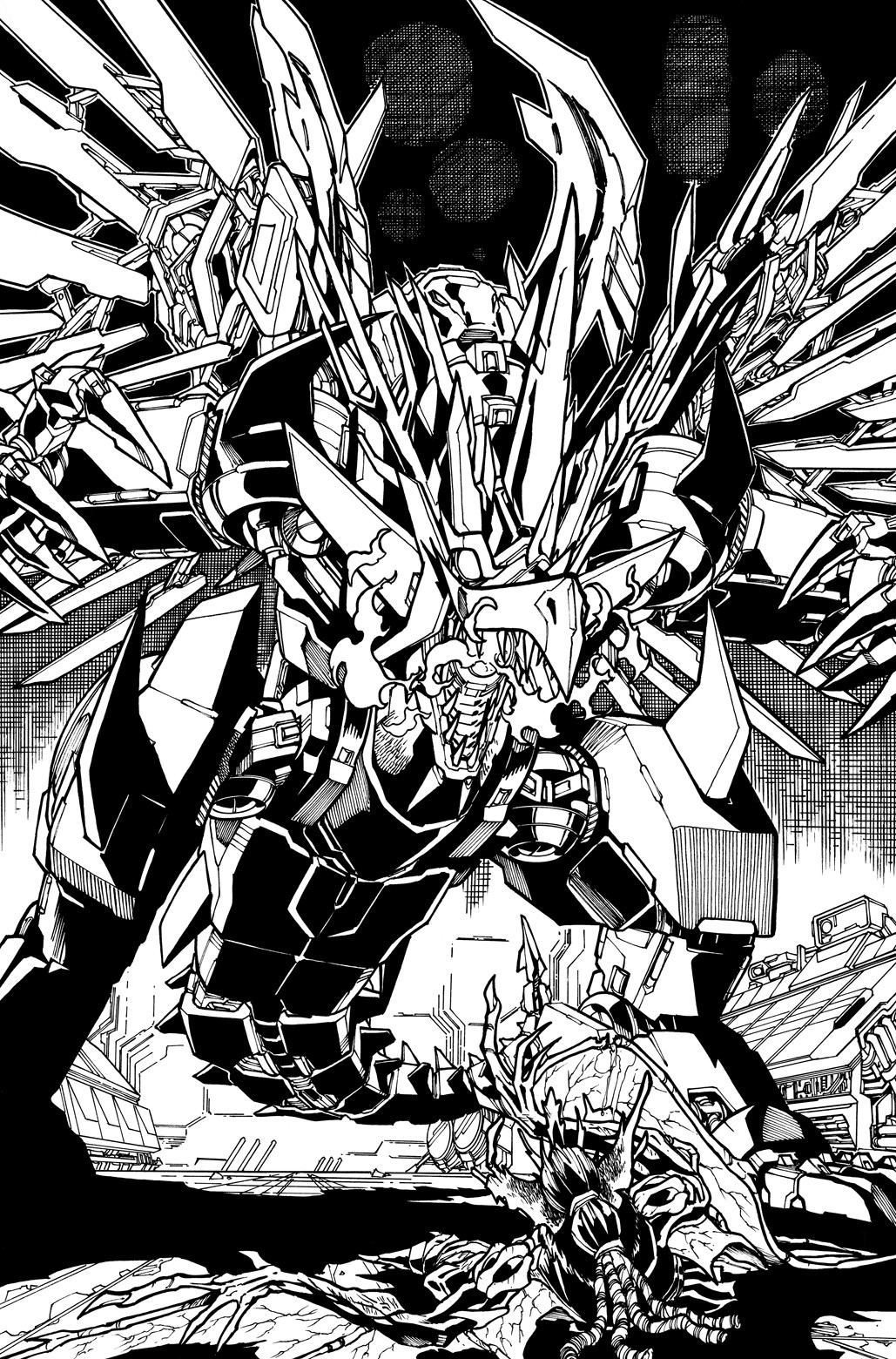 Transformers News: New Transformers Galaxies #5 Line Art by Alex Milne Shown Off