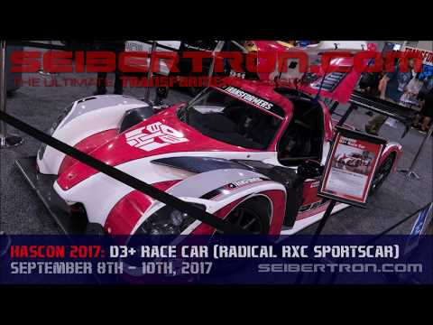 HASCON 2017: Transformers D3+ Race Car based on Radical RXC Sportscar