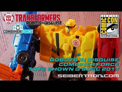 Transformers Robots In Disguise Combiner Force toy products shown at SDCC 2017