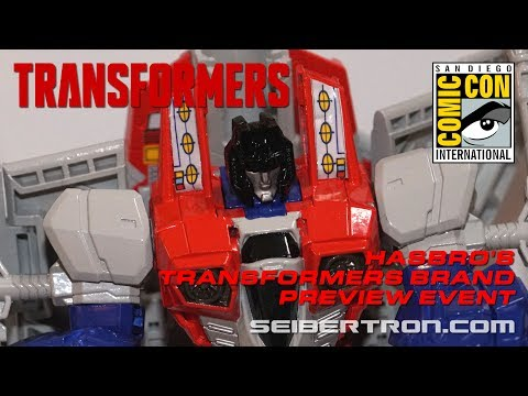 Transformers product reveals from Hasbro's Brand Preview Event at SDCC 2017