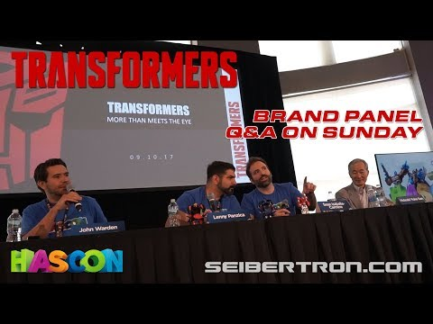HASCON 2017: Transformers Brand Panel Q&A Sunday