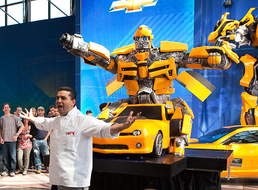 Cake Boss Takes On Bumblebee Transformers