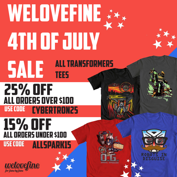 WeLoveFine 4th of July Transforme​rs Sale