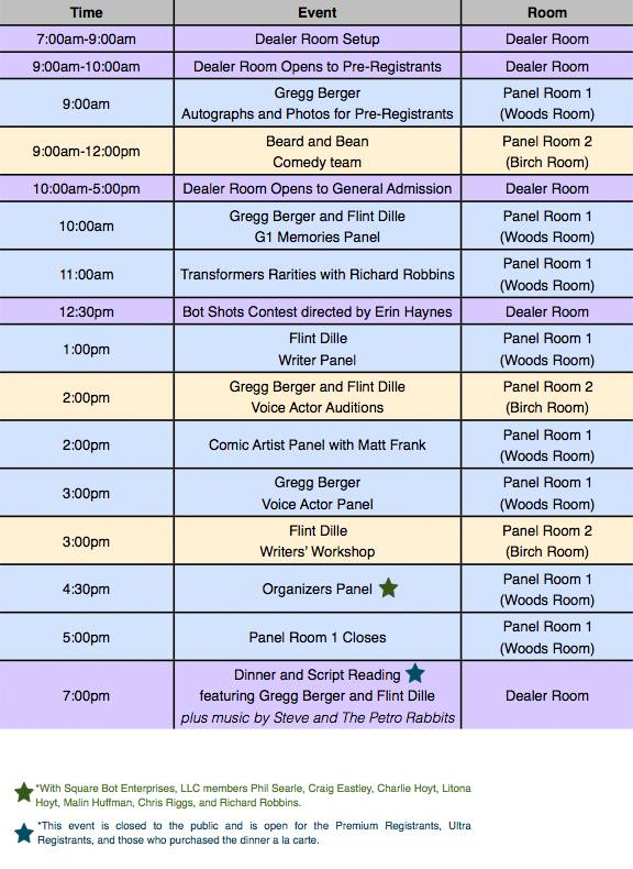 TFExpo 2013 Full Schedule