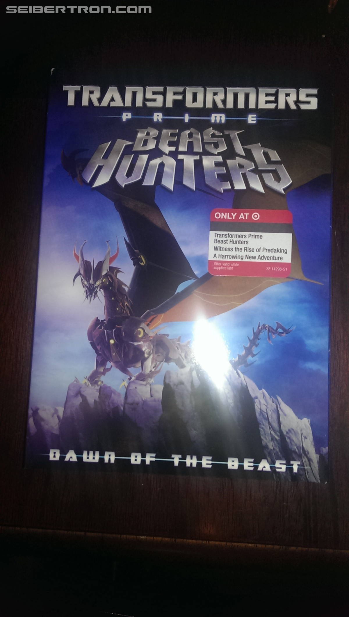 Target Exclusive Transformers Prime Beast Hunters: Dawn of the Beast DVD