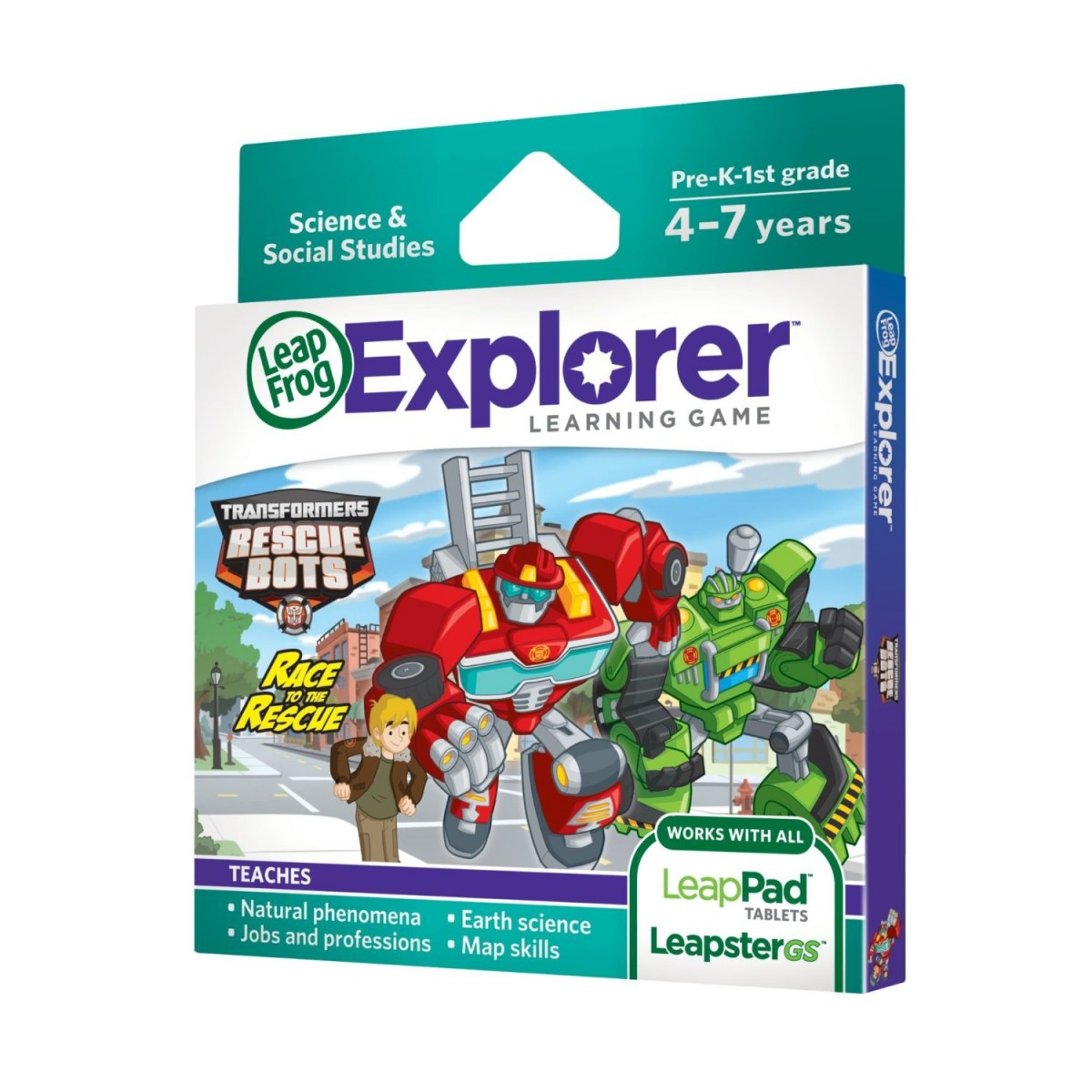 Transformers News: LeapFrog Explorer Transformers Rescue Bots Race to The Rescue Learning Game