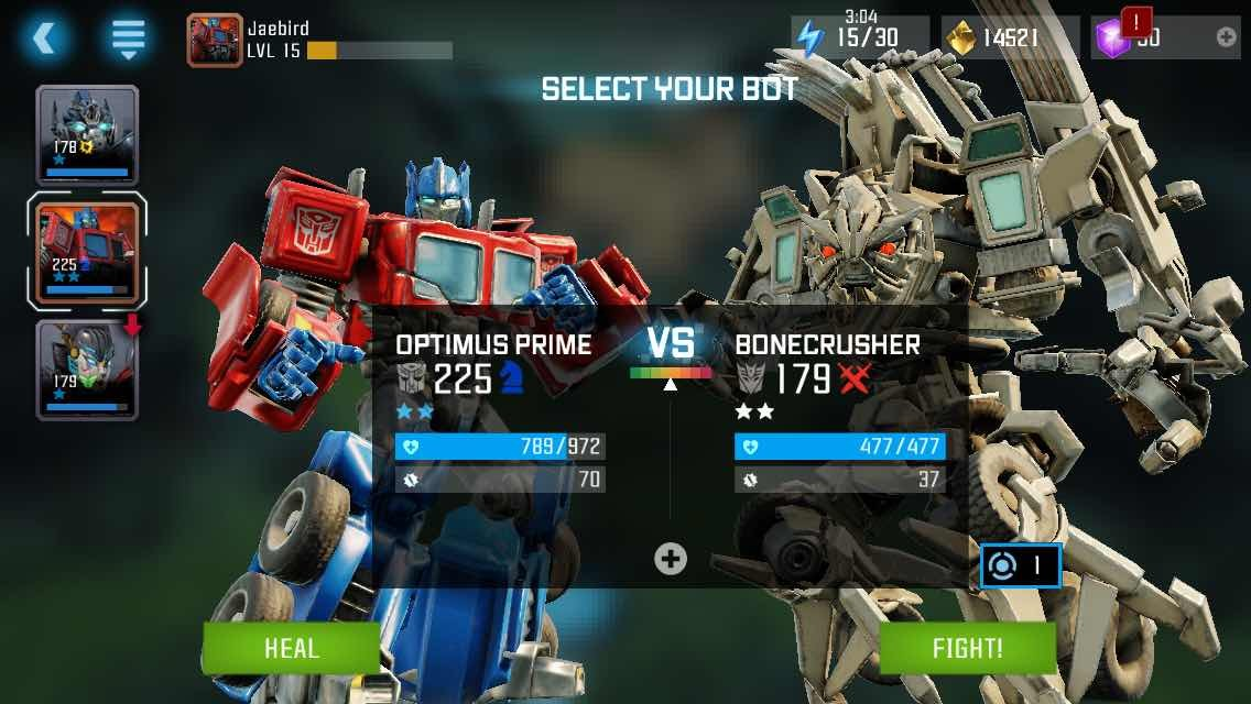 Transformers News: More Screenshots of Kabam Transformers: Forged To Fight Mobile Game