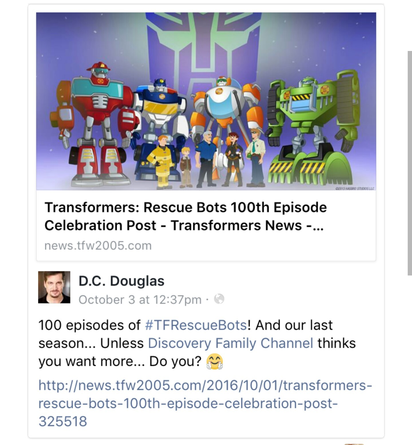 Transformers News: Re: The Official Transformers: Rescue Bots Discussion Thread