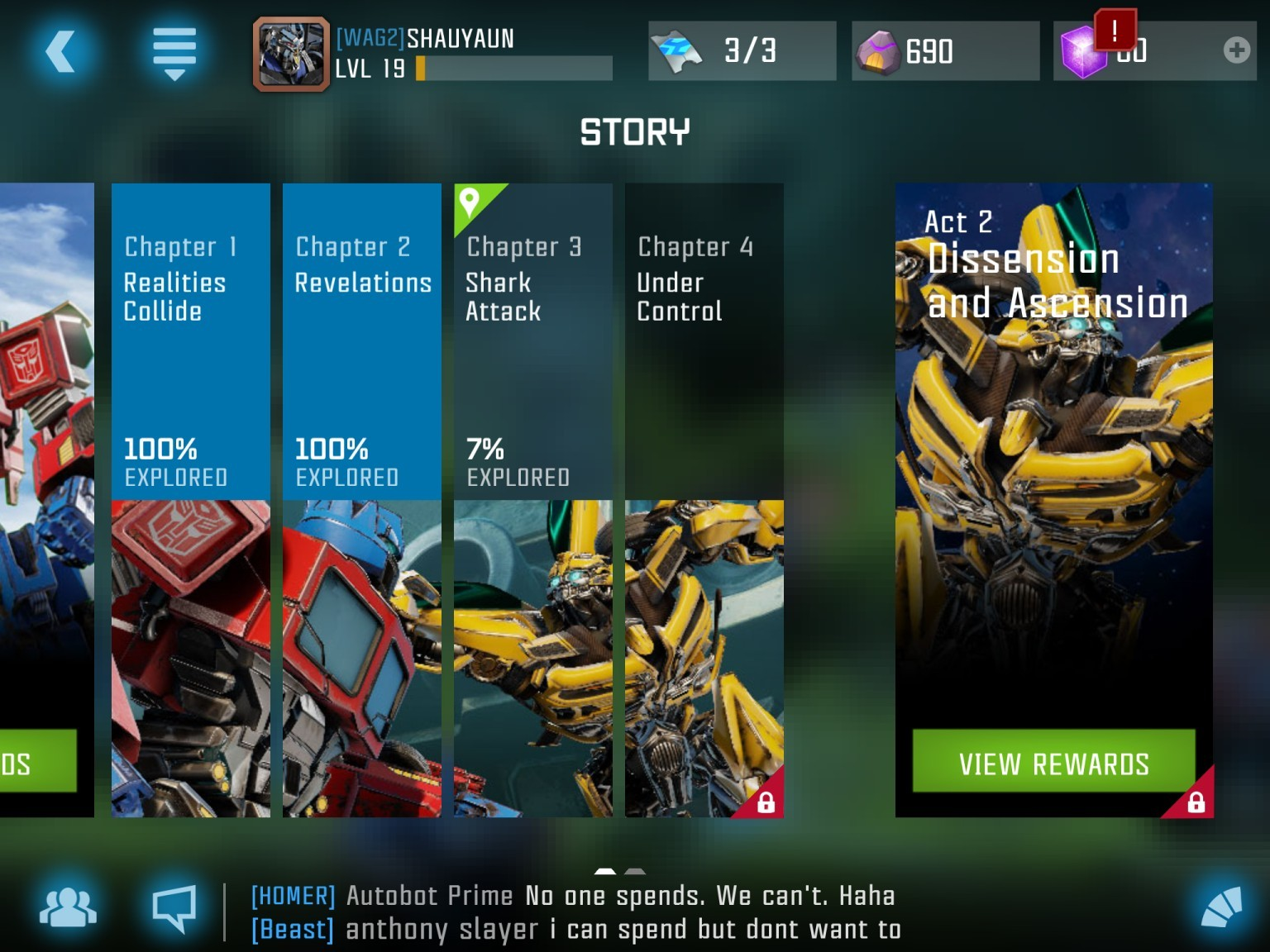 Transformers News: New Screenshots of Kabam Transformers: Forged to Fight Mobile Game