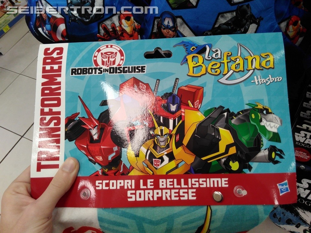 Transformers News: Transformers Robots in Disguise Befana/Epiphany Stockings at Italian Retail