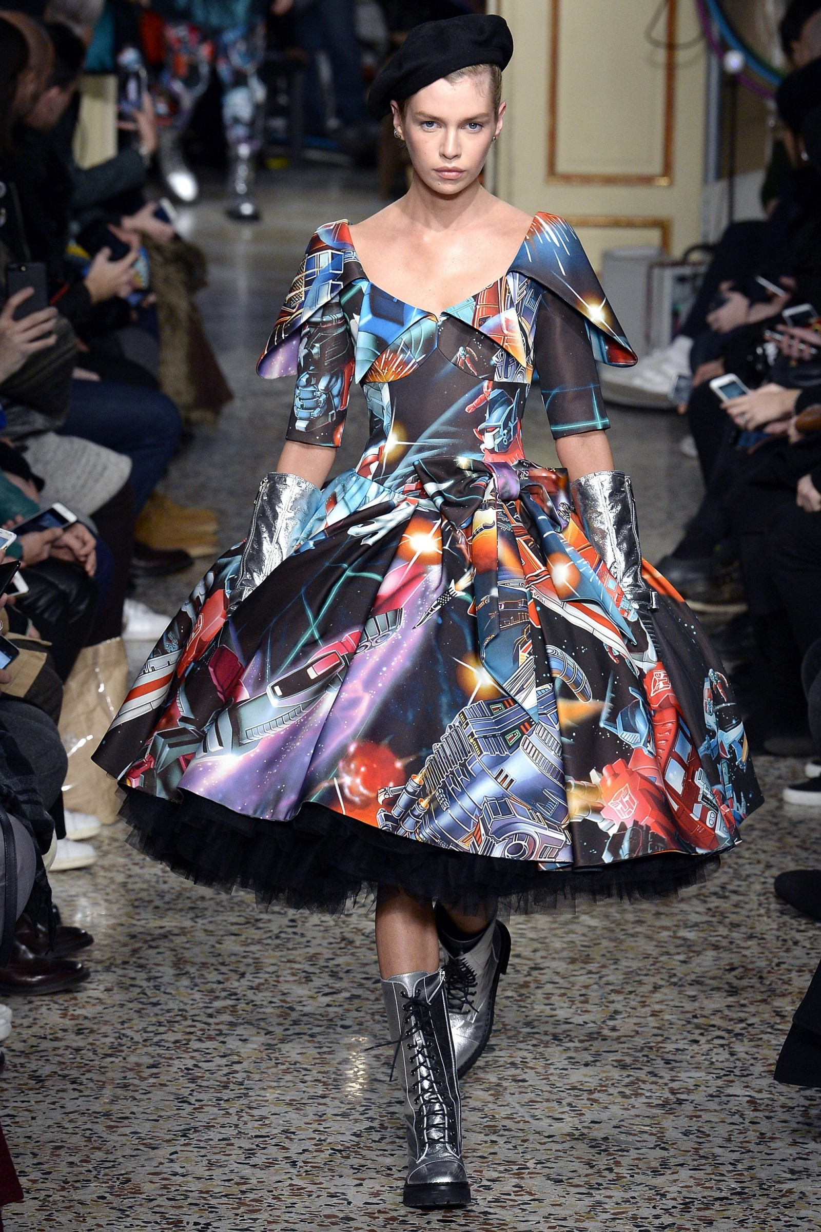 Transformers News: Transformers Art Featured in Moschino Milan Fashion Show Collection