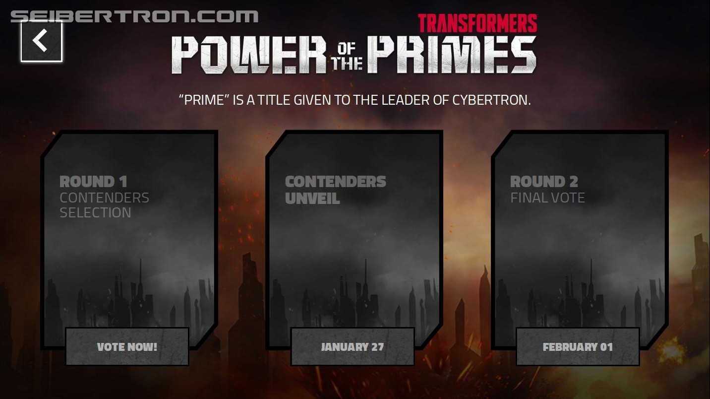 Transformers News: Hasbro Transformers 'Power of the Primes' Website Online, Opens January 23rd