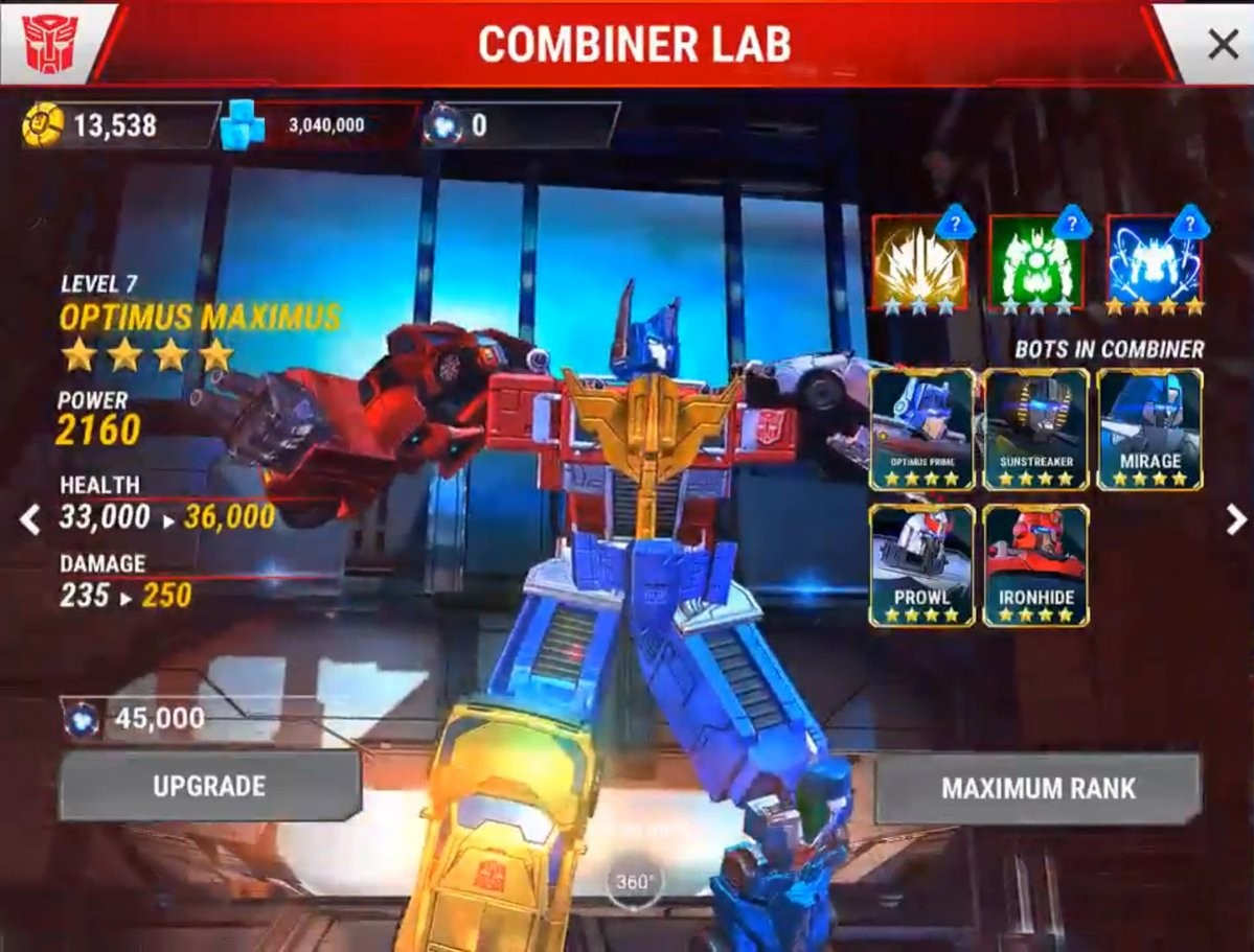 Transformers News: Transformers: Earth Wars - Bruticus and Optimus Maximus Revealed