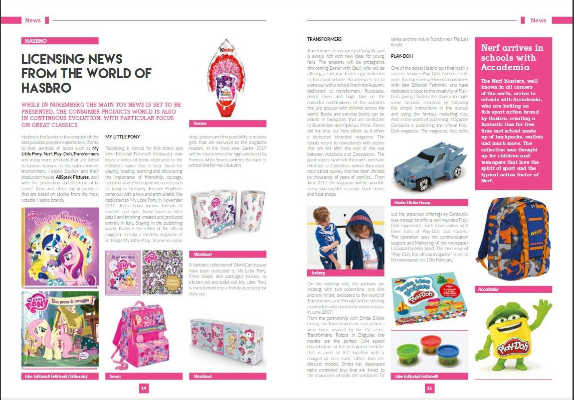 Transformers News: Hasbro Franchises Spotlight in Licensing Magazine, Featuring New UK Transformers Comics MagaziSeries