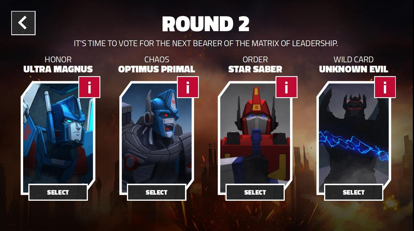 Transformers News: 'Power of the Primes' Fan Vote Final Round Open