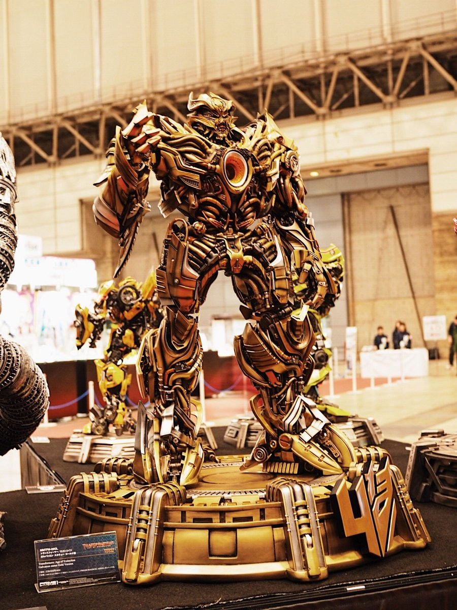 Transformers News: Wonderfest 2017 Prime 1 Studio Gold Variants of Optimus, Megatron, Movie Galvatron and White Prime