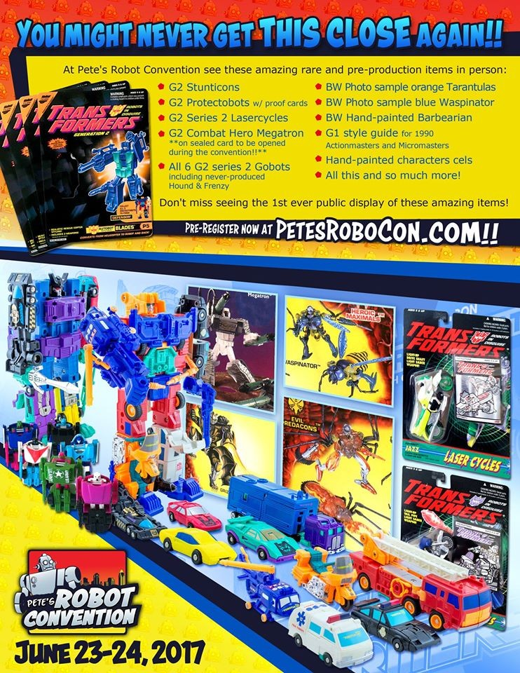 Transformers News: Pete's Robot Convention - Rare and One-of-a-Kind Figures to be Displayed
