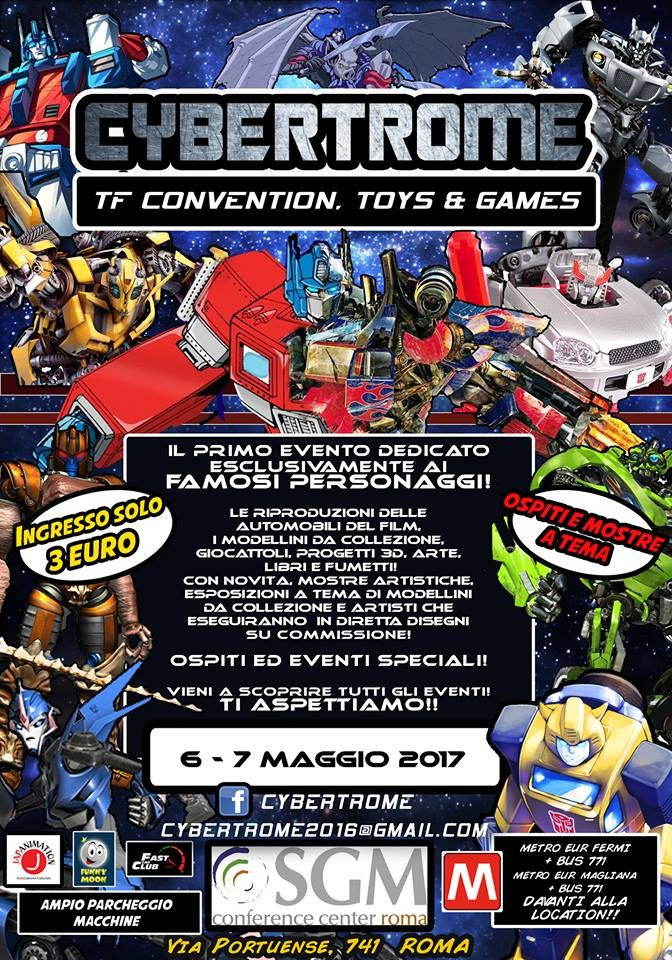 Transformers News: Cybertrome 2017 - 6-7 May, Rome, Italy