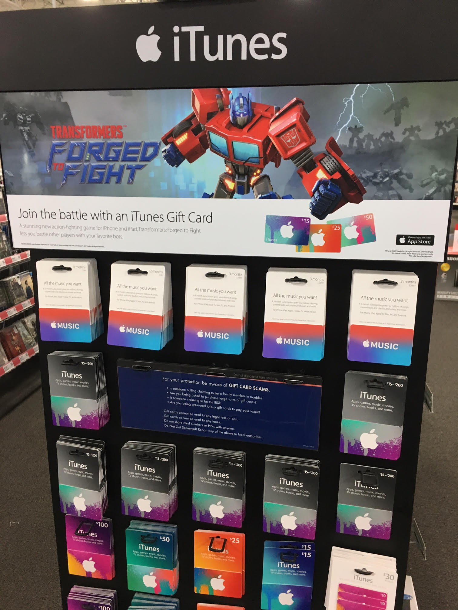 Transformers News: Transformers: Forged to Fight Display seen at Best Buy