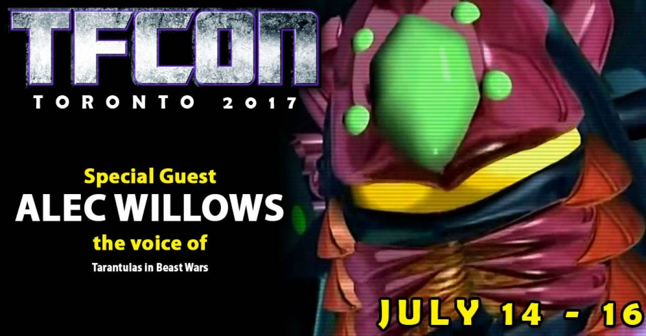 Transformers News: Alec Willlows (BW Tarantulas) to Attend TFcon Toronto 2017