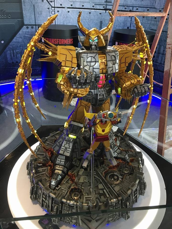 Transformers News: More Images of New Generation 1 Unicron Lamp Revealed