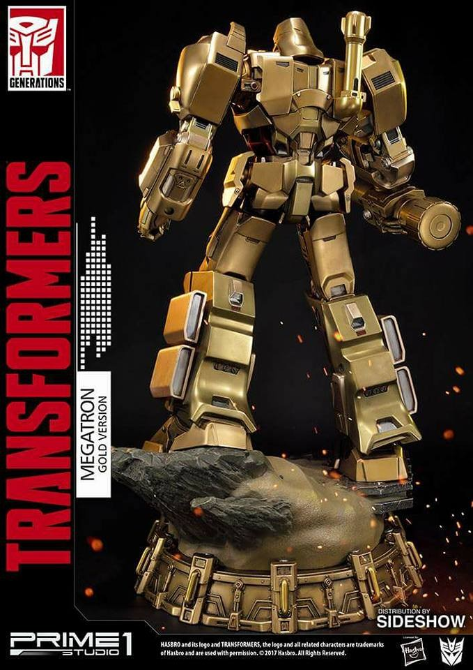 Transformers News: Prime 1 Studio Megatron Gold Edition – Transformers Generation 1 Pictures