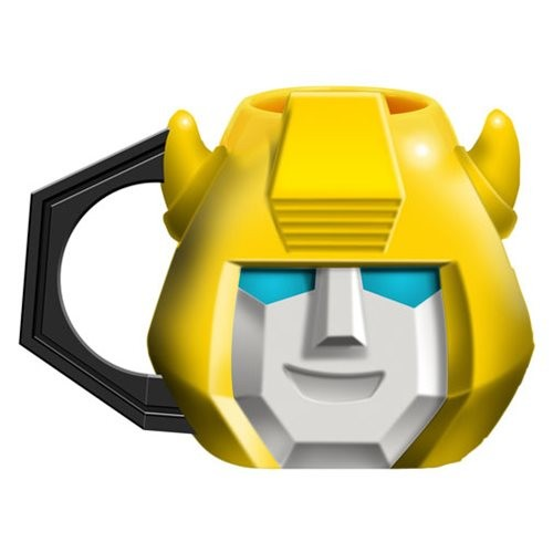 Transformers News: New Transformers Optimus Prime and Bumblebee Ceramic Sculpted Mugs