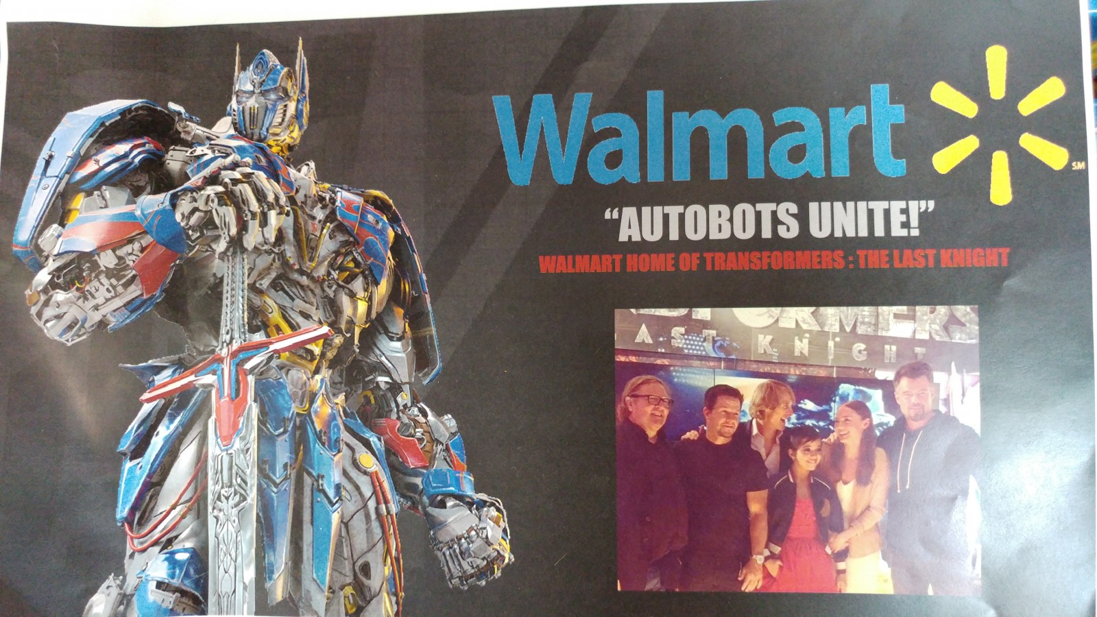 Transformers News: Walmart Autobots Unite Transformers: The Last Knight Exclusive Promo Tour Info