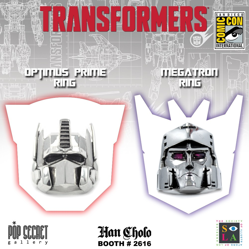Transformers News: Transformers x Han Cholo SDCC 2017 G1 Pins and Rings