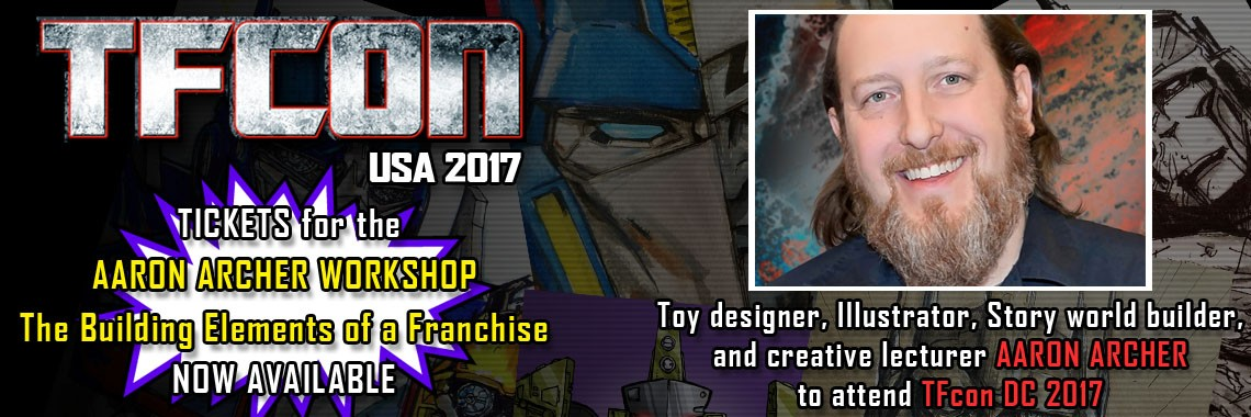 Transformers Designer Aaron Archer to Attend TFcon USA 2017
