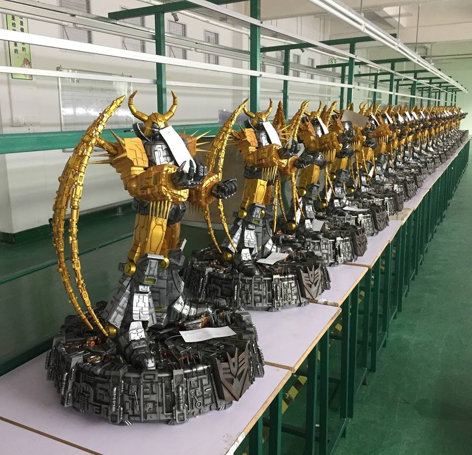 Transformers News: $16000 Worth of Transformers Unicron Lamps in One Single Image