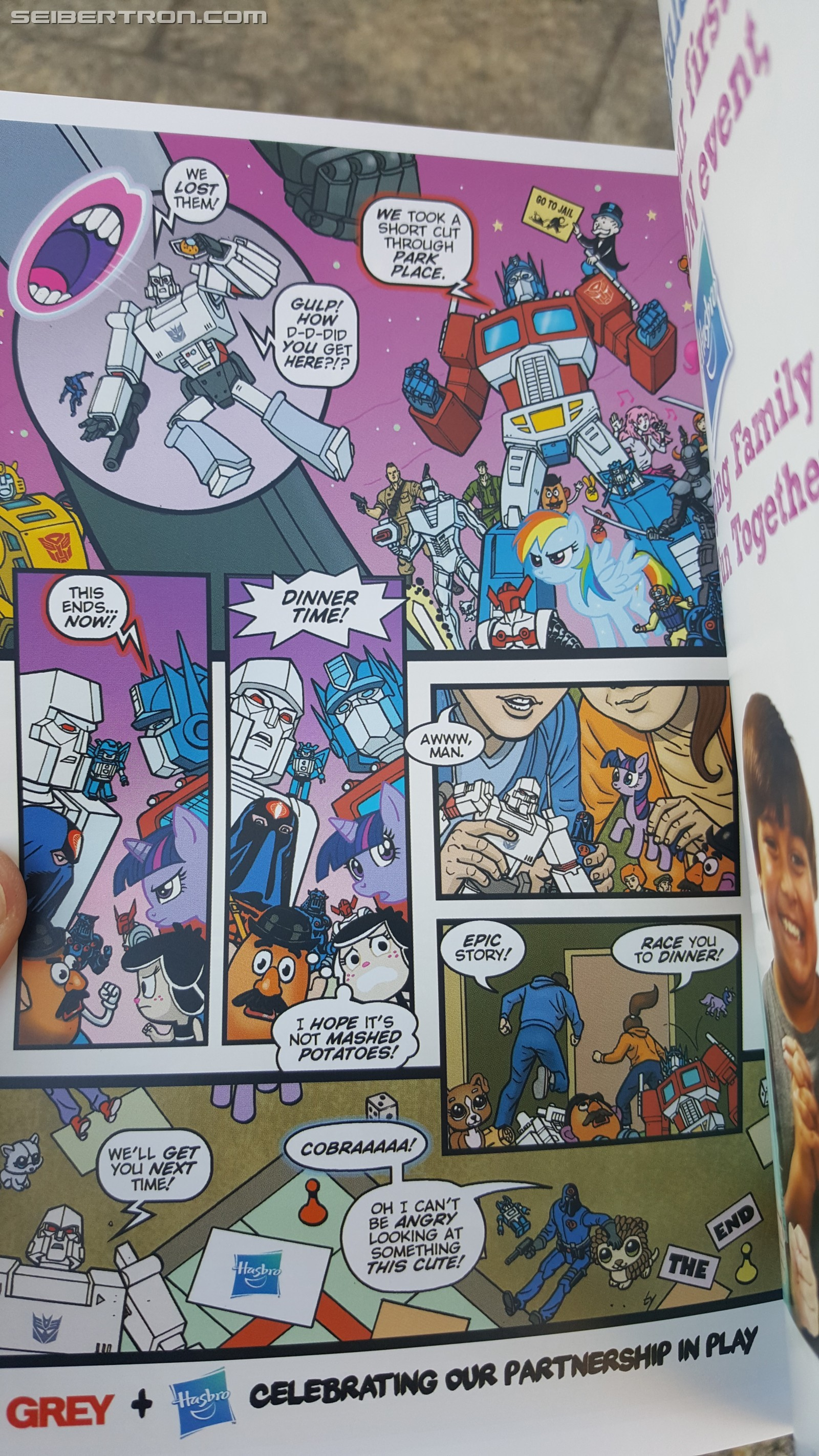 Transformers News: #HASCON Mini-Comic from Official Guide, featuring Transformers, GI Joe, MLP and More