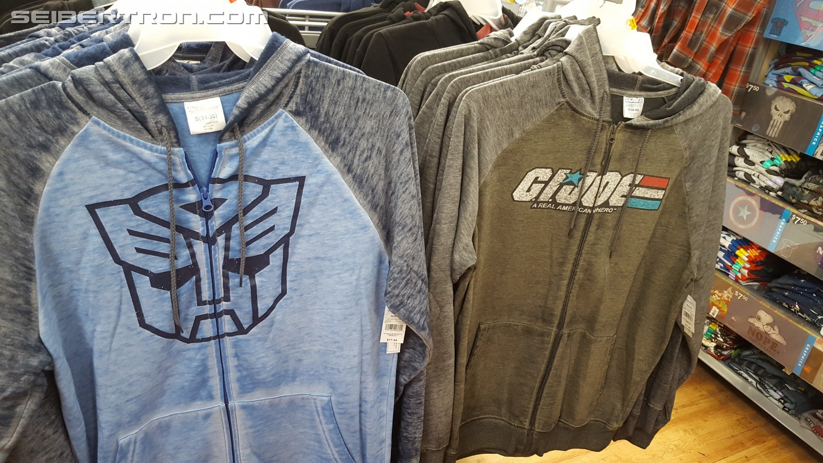 Transformers News: New Officially Licensed Transformers (and GI Joe) Hoodie Found at Walmart