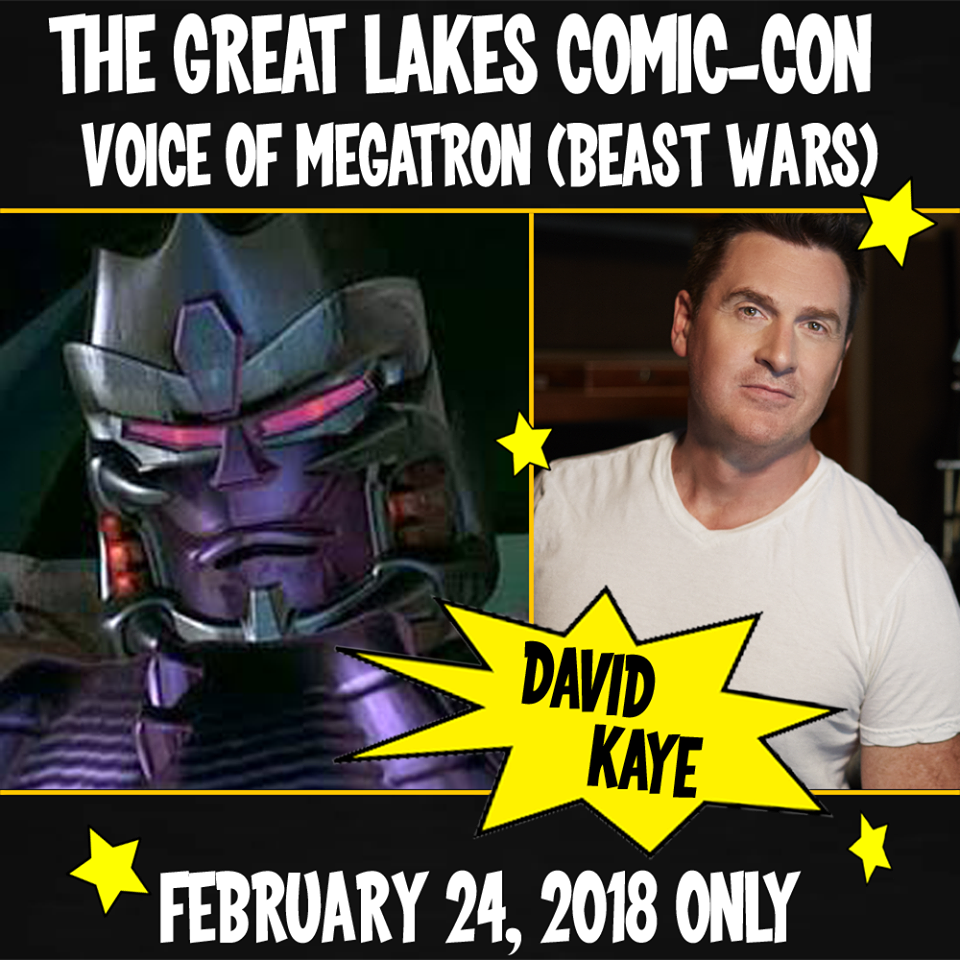 Transformers News: Great Lakes Comiccon Welcomes David Kaye