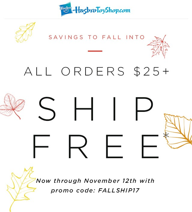 Transformers News: Free US Shipping on Hasbro Toy Shop orders above $25