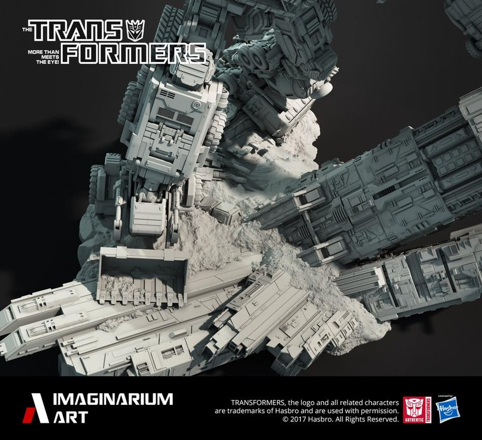 Transformers News: More Imaginarium Art Transformers Statue Images: Devastator Legs and Coronation Throne