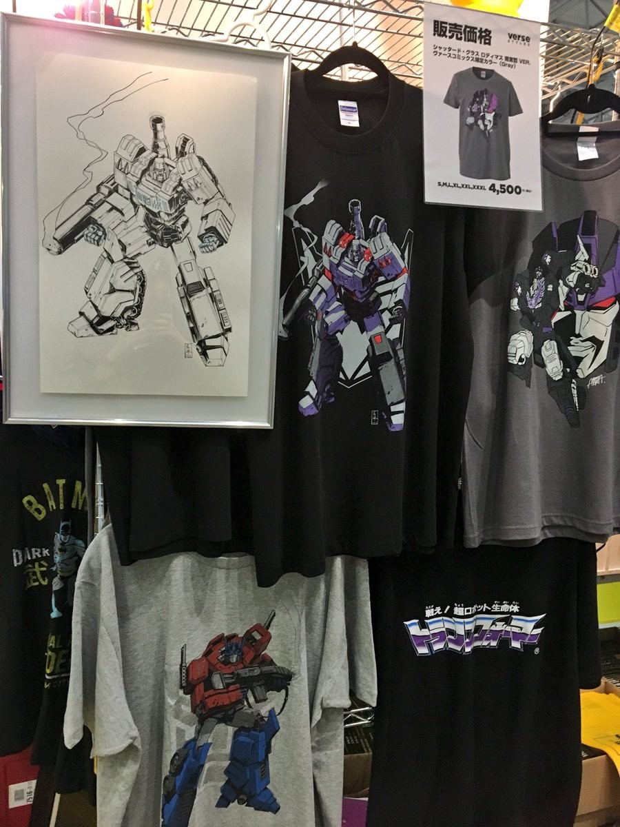 Transformers News: Verse Styles T-Shirts on Display at Tokyo Comic Con, Featuring Optimus Prime, Megatron, Shattered