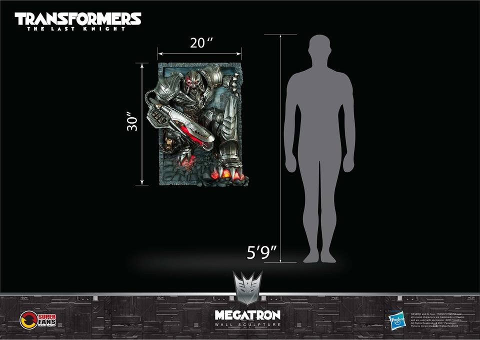 Transformers News: Megatron Transformers: The Last Knight Wall Statue by Superfans Group
