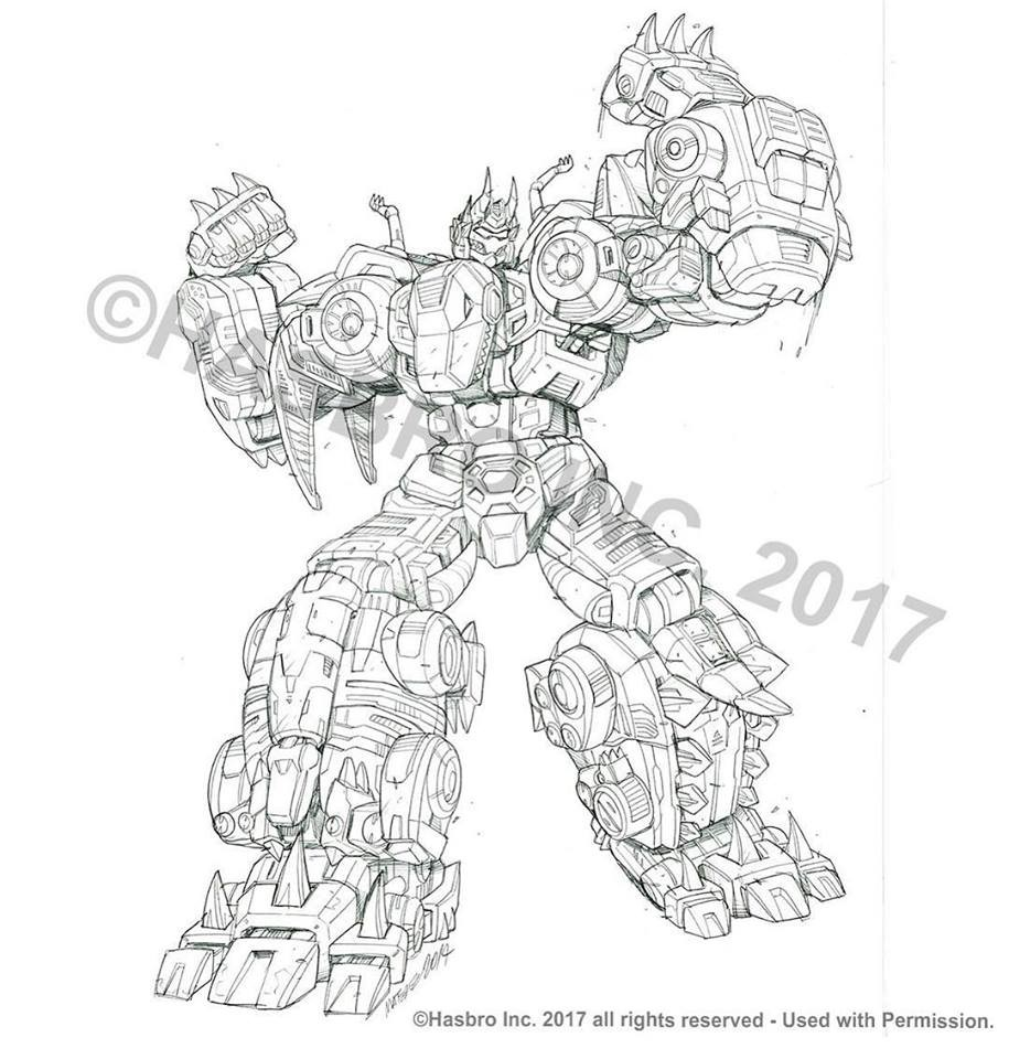 Transformers News: Transformers Power of the Primes Volcanicus Package Art Pencils by Marcelo Matere