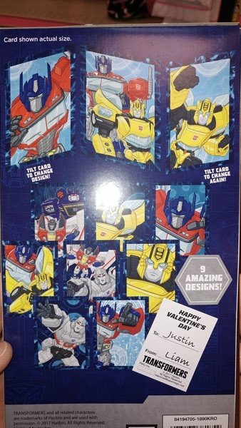 Transformers News: Transformers 'Evergreen' Designs Lenticular Valentines Cards at US Retail