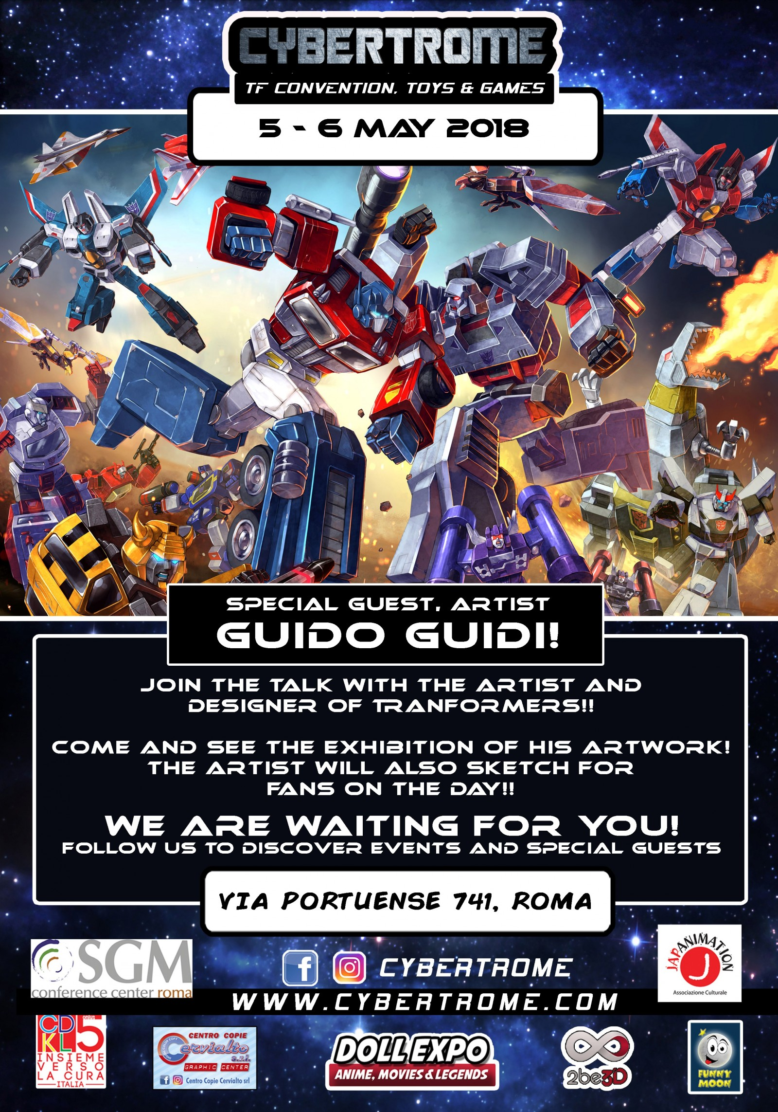 Transformers News: Cybertrome 2018 - 5-6 May, Rome, Italy