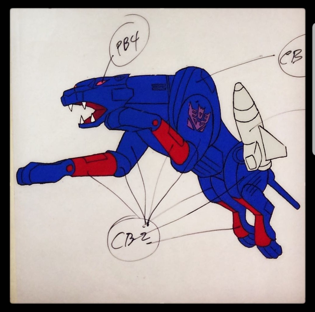 Transformers News: Newly Discovered Concept Art from the Generation 1 Transformers Cartoon: Ravage, Blue Bluestreak, Mi