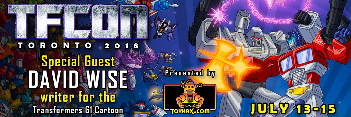 Transformers News: David Wise to Attend TFcon Toronto 2018