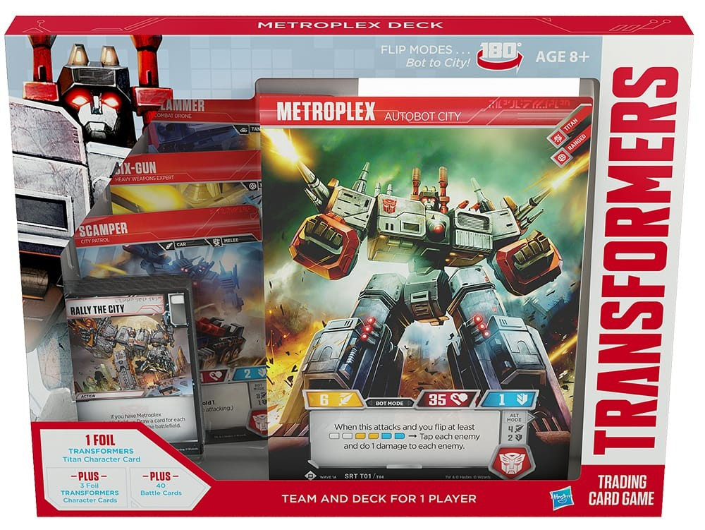 Transformers News: Press release for Metroplex theme deck for Official Transformers Trading Card Game